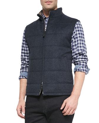 Reversible Wool-Cashmere Vest