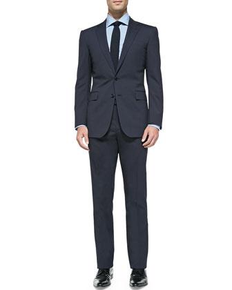 Anthony Track-Stripe Suit, Navy
