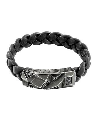 Men's Classic Chain Lava Station Bracelet, Black