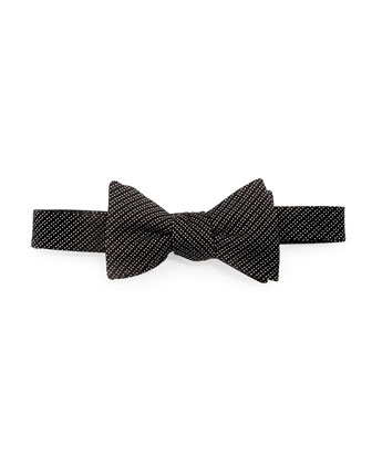 Textured Check-Neat Bow Tie