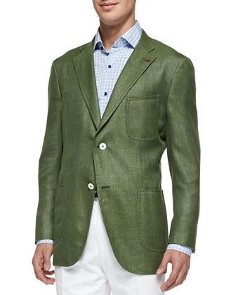 Soft Two-Button Blazer, Sage Green