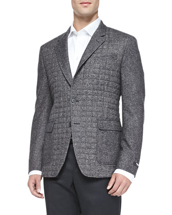 Donegal Quilted Two-Button Jacket