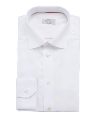 Contemporary-Fit Calvary Twill Dress Shirt, White