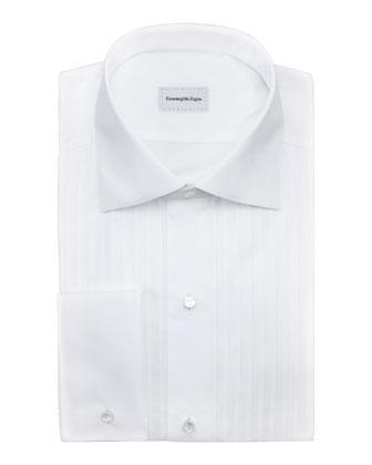 Ribbed-Bib Tuxedo Shirt