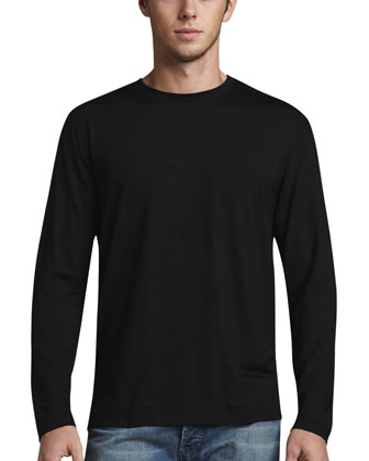 Basel 1 Long-Sleeve Jersey Tee, Black