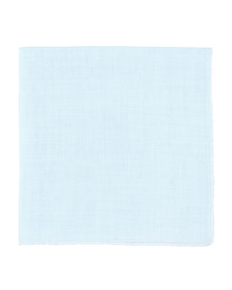 Linen Pocket Square, Light Blue