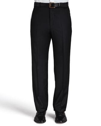 Flat-Front Pants, Platinum