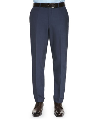 High Performance Wool Trousers, Navy