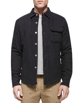 Flannel Shirt Jacket, Blue