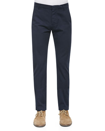 Slim-Fit Chino Pants, Cobalt Blue