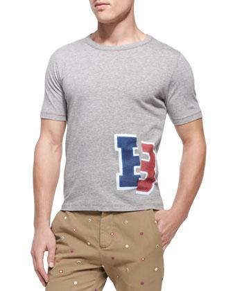 Zip-Front Twill Shirt Jacket, Broken