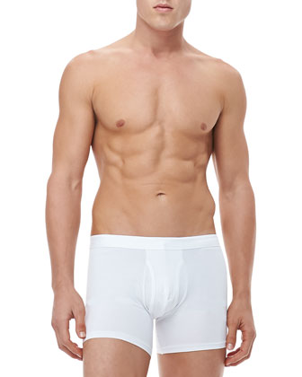 Jack Stretch Cotton Trunks, White