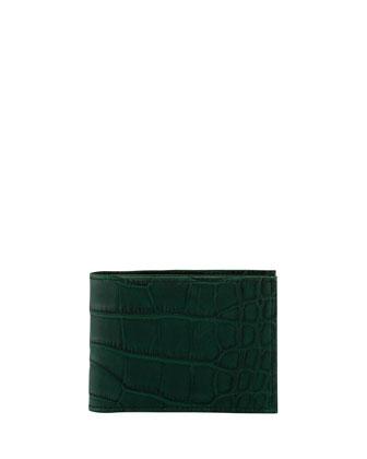 Alligator Bi-Fold Wallet, Black