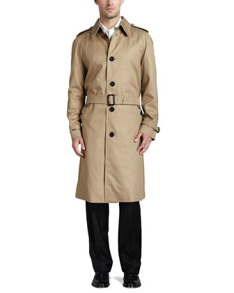 Belted Trench with Removable Liner