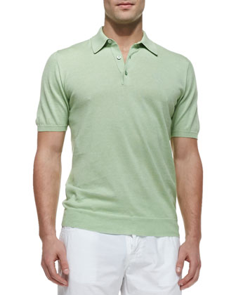 Knit Polo Shirt, Lime