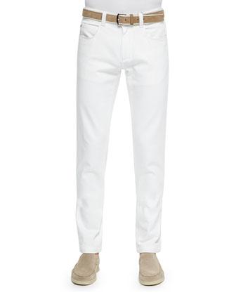 Shawl-Collar Pullover Sweater, Windstorm Stretch Shirt & Five-Pocket Denim ...
