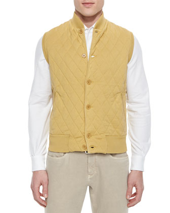 Windstorm Jacket with Cape Back, Quilted Button-Front Sweater Vest & Andre ...