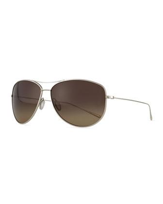 Kempner 65 Titanium Aviator Sunglasses