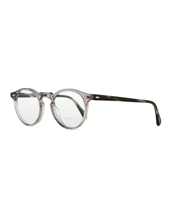 Gregory Peck Fashion Glasses, Workman Gray/Clear