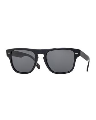 Strathmore VFX+ Polarized Square Sunglasses, Semi-Matte Black