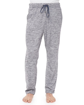 Slub-Knit Lounge Pants, Gray