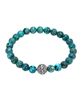 Turquoise Large Beaded Bracelet