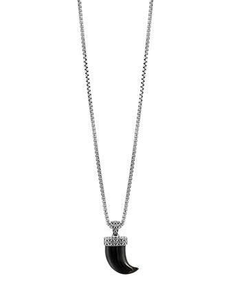 Black Buffalo Horn Box Chain Necklace