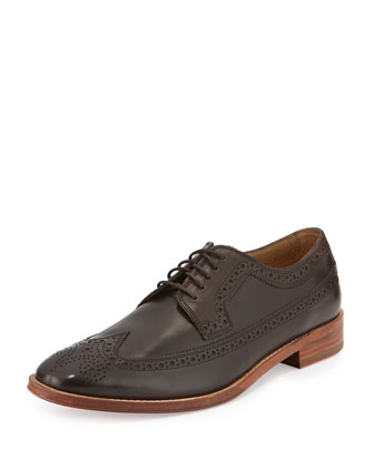 Lionel Leather Long-Wing-Tip, Tan