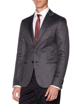 Wall St. Neat Jacket, Blue/Gray
