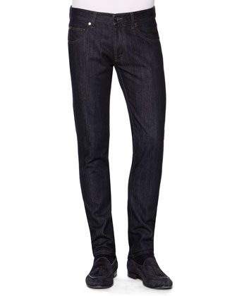 Slim-Fit Denim Jeans, Navy