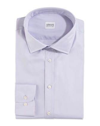 Modern Fit Twill Woven Dress Shirt, Lavender
