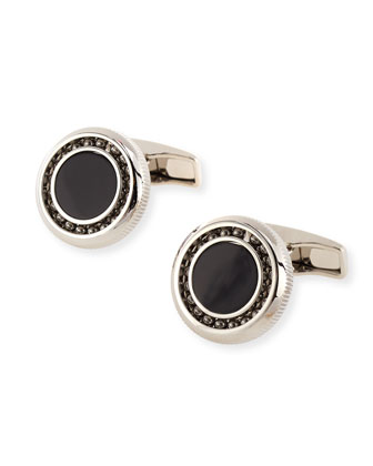 Ball Bearing Onyx Cuff Links
