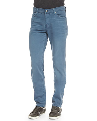 Luxe Performance: Slimmy Light Blue Jeans, Slate