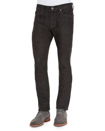 Slimmy Cashmere Denim Jeans, Brown/Gray