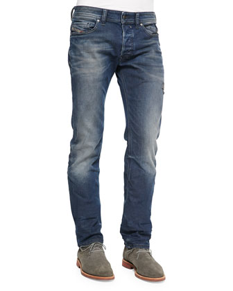 Safado Foam Wash Straight-Leg Denim Jeans, Blue