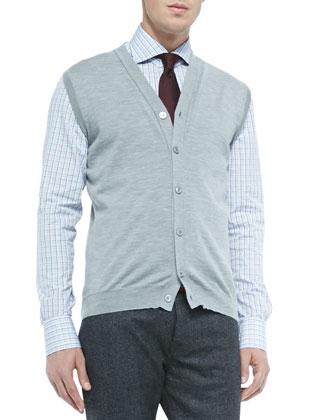 Cashmere/Silk Cardigan Vest