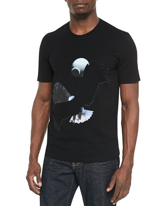 Woven Eagle Graphic T-Shirt