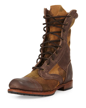 Axel Camo Army Boot, Brown