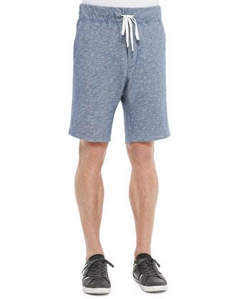Thermal Knit Long-Sleeve Shirt & Vintage Melange Track Shorts
