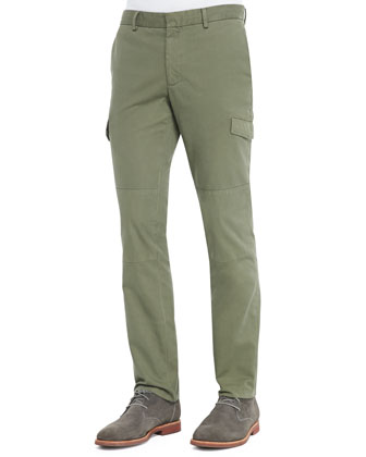 Slim-Fit Cargo Pants, Olive