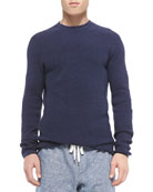 Thermal Knit Long-Sleeve Shirt, Blue