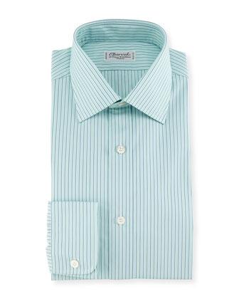 Shadow Striped Dress Shirt, Mint Green