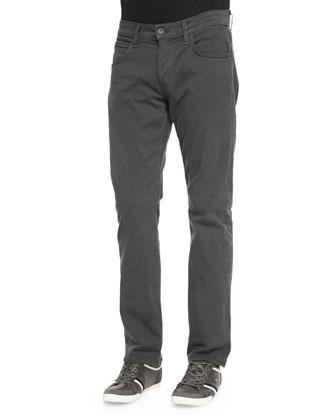 Byron Twill Five-Pocket Jean, Dark Gray