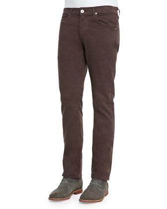 Byron Twill Five-Pocket Jean, Chocolate