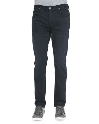 Sartor Slouchy Skinny Jeans, Dark Blue