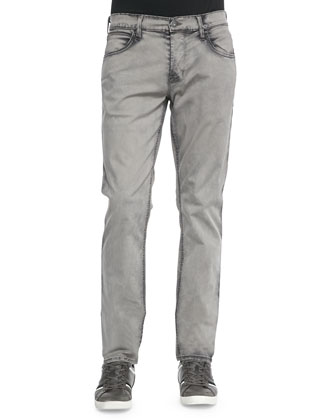 Blake Slim Acid Wash Jean, Light Gray