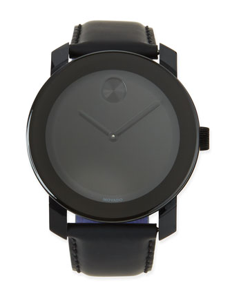 42mm Bold Watch, Black/Black