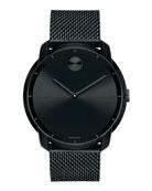 44mm Bold Watch with Mesh Bracelet, Black