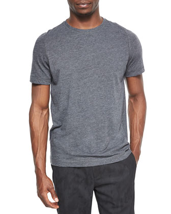 Perran Rely Heathered Crewneck Tee, Charcoal