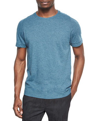 Perran Rely Heathered Crewneck Tee, Blue
